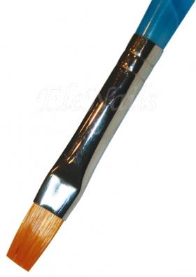 Gelpinsel flach Nr.4, Plexiglasgriff blau