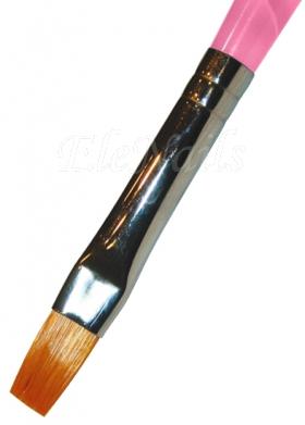 Gelpinsel flach Nr.4, Plexiglasgriff rosa